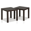 Classic Cubic End Table, Set of Two, Espresso