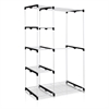 Wayar Double Rod Freestanding Closet, White,