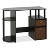15111 JAYA Simplistic Computer Study Desk with Bin Drawers, Espresso