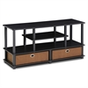 JAYA Large TV Stand for up to 50-Inch TV with Storage Bin,