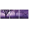 SeniA Purple Trees 3-Panel MDF Framed Photography Triptych Print, 48 x 16-inch