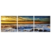 SeniA Sky and Beach 3-Panel MDF Framed Photography Triptych Print, 48 x 16-inch