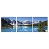 SeniA Snow Lake 3-Panel MDF Framed Photography Triptych Print, 48 x 16-inch