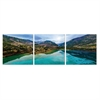 SeniA JiuZhai Valley 3-Panel MDF Framed Photography Triptych Print, 48 x 16-inch