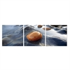 SeniA River Stream Rock 3-Panel MDF Framed Photography Triptych Print, 48 x16 -inch