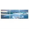 SeniA Jokulsarlon Glacier Lagoon 3-Panel MDF Framed Photography Triptych Print, 48 x 16-inch