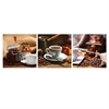 SeniA Cup of Coffee 3-Panel MDF Framed Photography Triptych Print, 48 x 16-inch