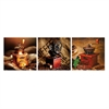 SeniA Coffee Roaster 3-Panel MDF Framed Photography Triptych Print, 48 x 16-inch