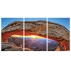 SeniA Sunset Arch 3-Panel MDF Framed Photography Triptych Print, 42 x 20-inch
