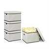 Non-Woven Fabric Heavy-Duty Storage Organizer, 4-Pack Ivory