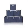 LACi Non-Woven Fabric Soft Storage Organizer, Dark Blue, Set of 6