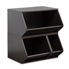KidKanac Stacking Storage Set 3-in-1 , Espresso