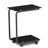 Kaca U-Shaped Glass Laptop Desk, Black