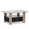 Coffee Table w/Bin Drawer, French Oak Grey/Black