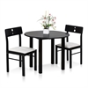 Cos-Drop Leaf 3-PC Solid Wood Dining Set, One Table and Two Chairs, Espresso