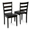 Cos Simply Solid Wood Dining Chairs Set of 2, Espresso (2 Chairs)