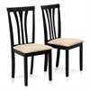 Franklin 2-PC Solid Wood Dining Chairs, Espresso (2 Chairs Only)