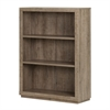 South Shore Kanji 3-Shelf Bookcase, Weathered Oak