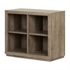 South Shore Kanji 4-Cube Shelving Unit, Weathered Oak