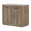 South Shore Kanji Small 2-Door Storage Cabinet, Weathered Oak