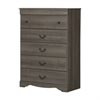 South Shore Vintage 5-Drawer Chest, Gray Maple
