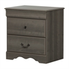South Shore Vintage 2-Drawer Nightstand, Gray Maple