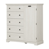 South Shore Avilla Door Chest with 5 Drawers, Winter Oak