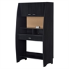 South Shore Reevo Desk with Hutch and Storage, Black Onyx