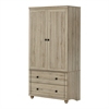 South Shore Hopedale Storage Armoire With 2 Drawers, Rustic Oak