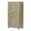 South Shore Hopedale 4-Door Storage Armoire, Rustic Oak