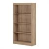 South Shore Axess 4-Shelf Bookcase, Rustic Oak