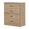 South Shore Libra 4-Drawer Chest, Rustic Oak