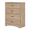 South Shore Step One 4-Drawer Chest, Rustic Oak