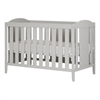 South Shore Angel Soft Gray Crib & Toddler's Bed, with Mattress