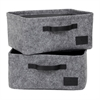 South Shore Storit Gray Small Woven Felt Baskets, 2-Pack