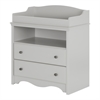 South Shore Angel Changing Table with Drawers, Soft Gray