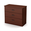 South Shore Libra 3-Drawer Chest, Royal Cherry