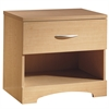 South Shore Step One 1-Drawer Nightstand, Natural Maple