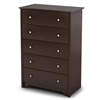 South Shore Vito 5-Drawer Chest, Chocolate
