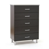 South Shore Cosmos 5-Drawer Chest, Black Onyx and Charcoal