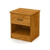 South Shore Libra 1-Drawer Nightstand, Country Pine