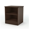 South Shore Libra Nightstand with Storage, Chocolate