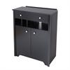 South Shore Vito Charging station cabinet, Pure Black