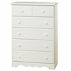 South Shore Summer Breeze 5-Drawer Chest, White Wash