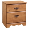 South Shore Prairie 2-Drawer Nightstand, Country Pine