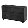 South Shore Fynn 6-Drawer Double Dresser, Gray Oak