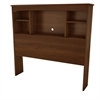 South Shore Willow Twin Bookcase Headboard (39''), Sumptuous Cherry