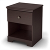 South Shore Zach 1-Drawer Nightstand, Chocolate