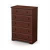 South Shore Summer Breeze 5-Drawer Chest, Royal Cherry