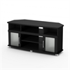 South Shore City Life Corner TV Stand, for TVs up to 50 inches, Pure Black